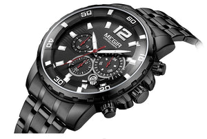 Men's Business Chronograph Analogue Wristwatch Waterproof - Planet service