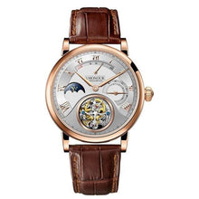 Men Mechanical Watch Hand Winding Sapphire  Genuine Leather - Planet service