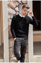 Men's wool knitted pullover winter o neck sweaters - Planet service