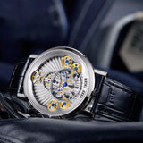 Men's Fashion Design Watch Big Skeleton Dial Mechanical - Planet service