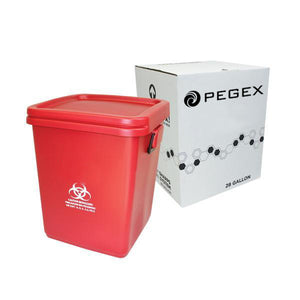 18 GALLON SHARPS CONTAINER DISPOSAL SYSTEM ( RMW - Red Bag - Bio-Haz )