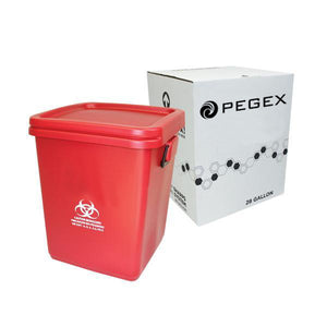 28 GALLON SHARPS CONTAINER DISPOSAL SYSTEM ( RMW - Red Bag - Bio-Haz )
