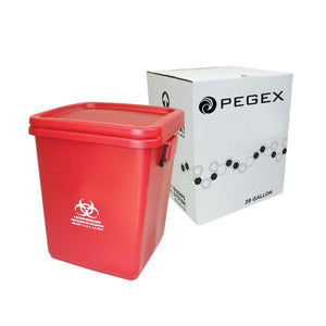 5 GALLON SHARPS CONTAINER DISPOSAL SYSTEM ( RMW - Red Bag - Bio-Haz )