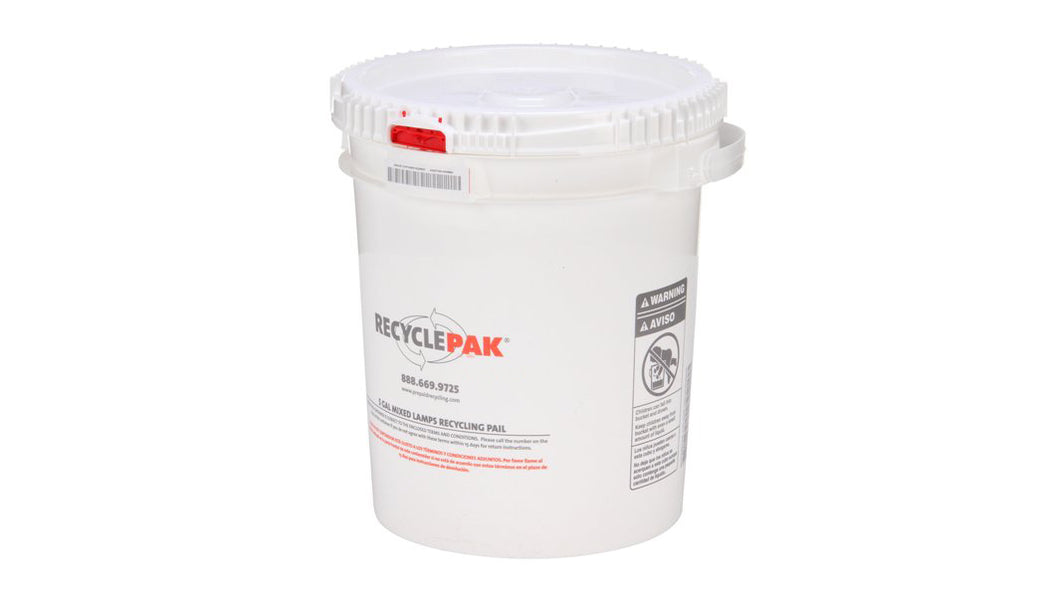 5 Gal Mixed Lamp Recycling Pail