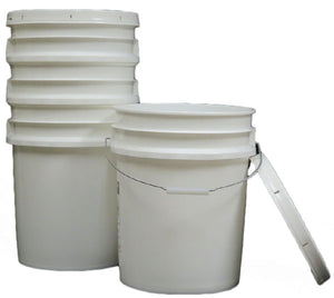 Poly Buckets - Snap Lid - 5 Gallon - Not UN-Rated.
