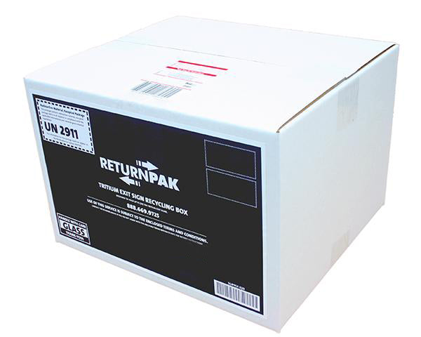 Tritium Exit Sign Recycling Box - $217.95 Per Sign. 1-10 sign capacity.