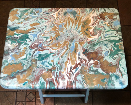 Class - Create your own Fluid Art painted T.V. Tray