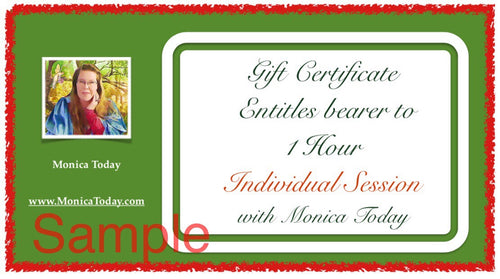 Holiday limited discount session with Monica Today