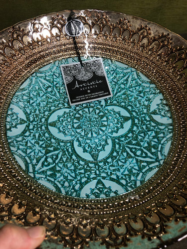 Mandala large bowl tray