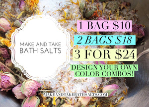 Custom Bath Salts made to order for your event by the pound