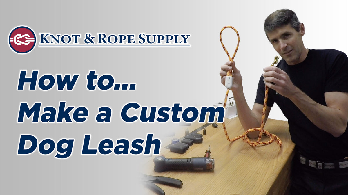 How to Make a Dog Leash with Rope Clamps — Knot & Rope Supply