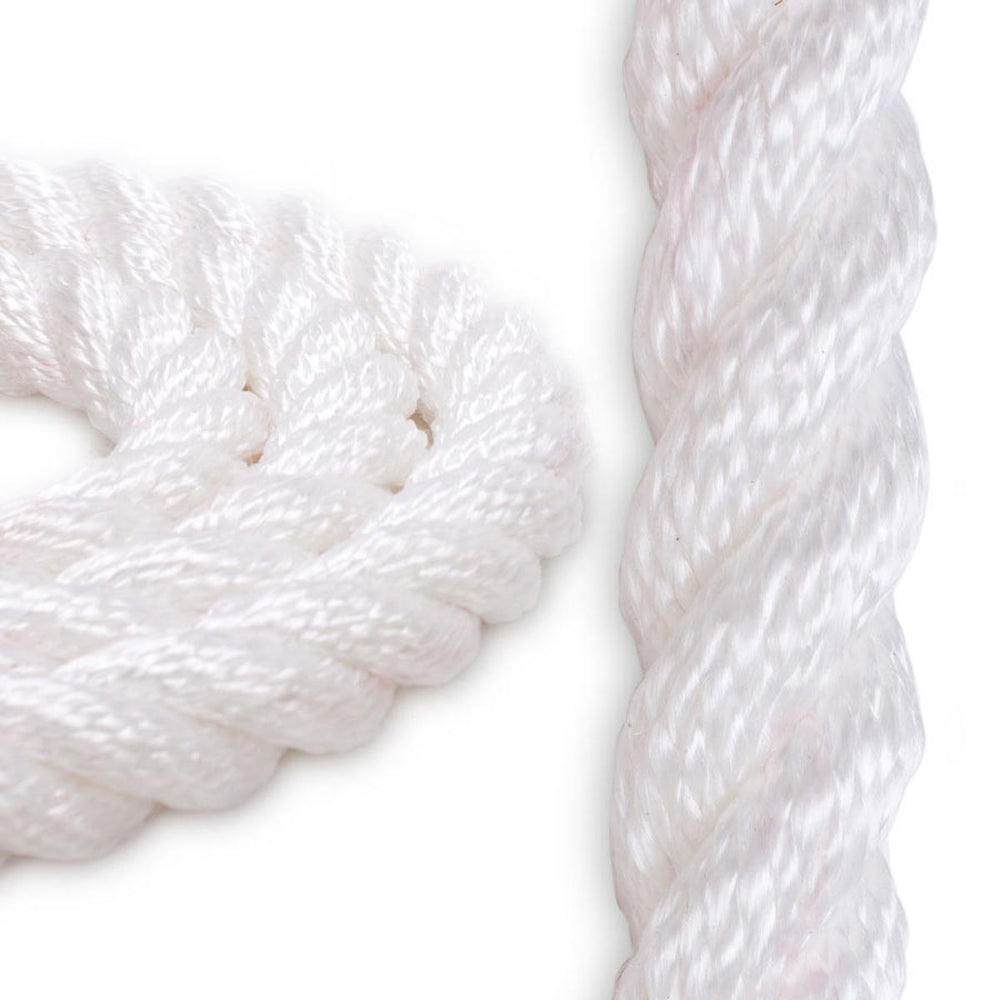"1 1/2"" Polyester Combo Rope - White"
