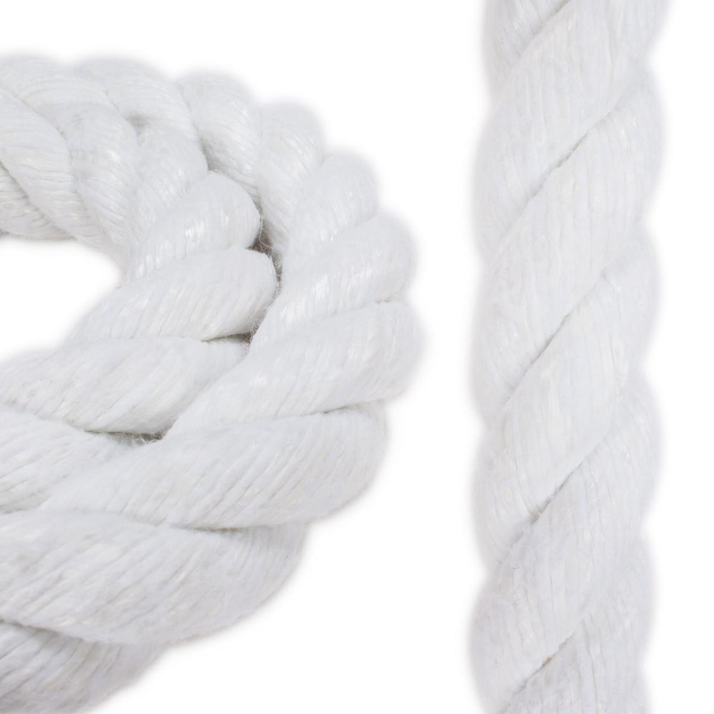 "1 1/2"" Polyester Combo Rope - White with Spun Cover"