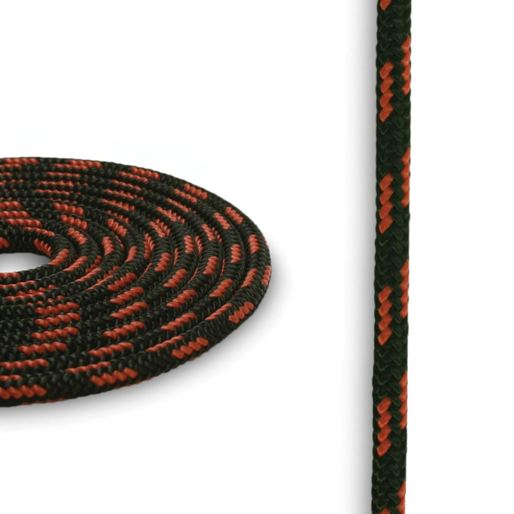 4mm Cord - Black w/ Orange