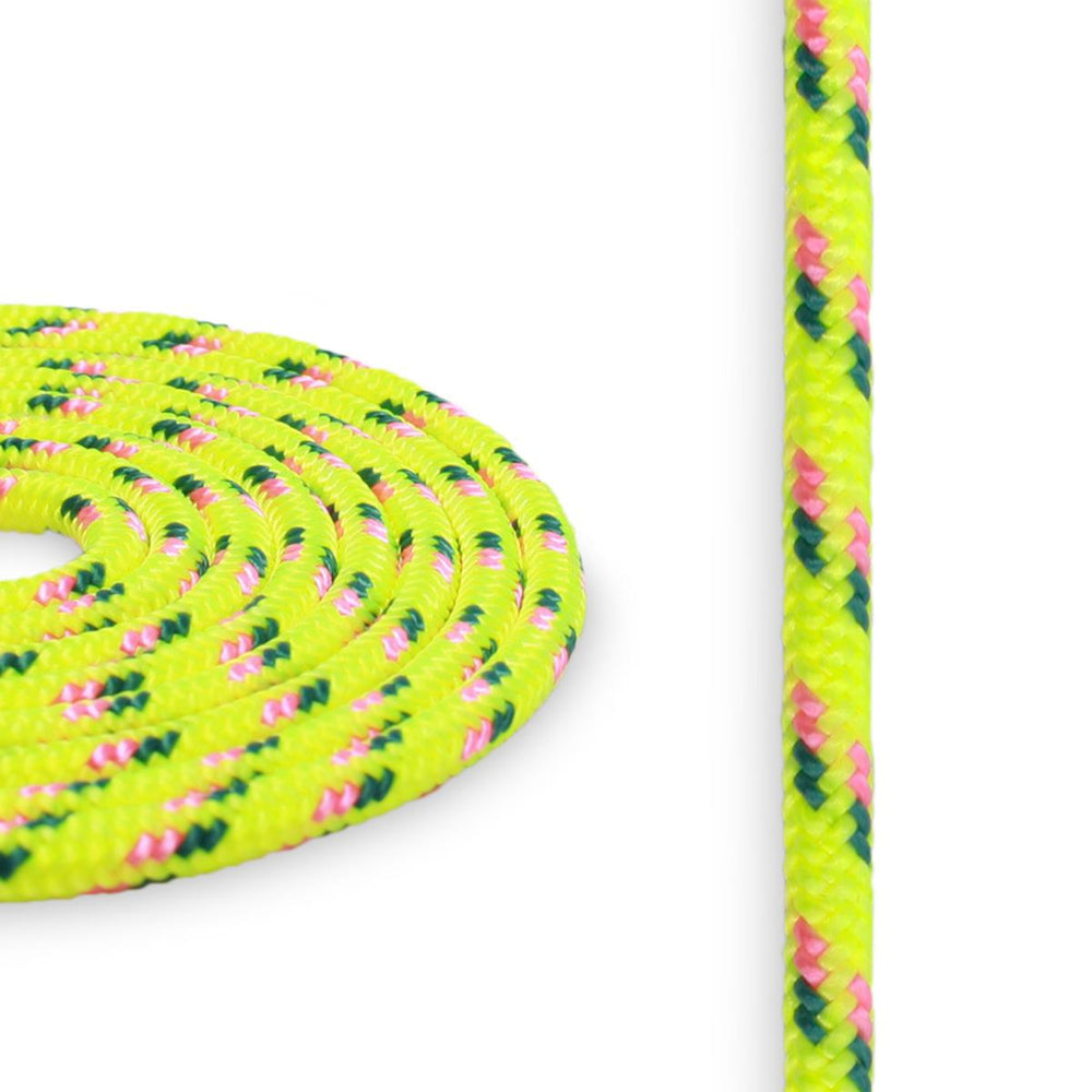 4mm Cord - Yellow w/ Pink & Green