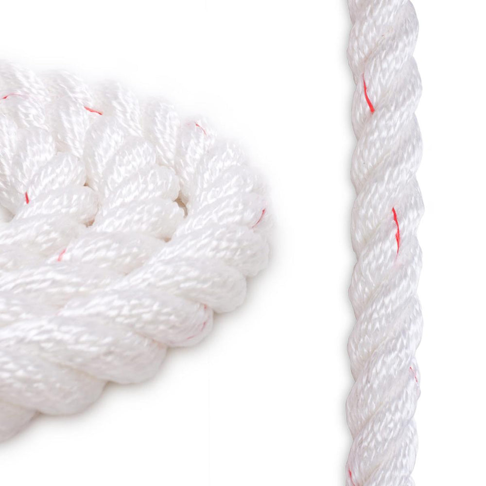 "5/8"" Polyester Combo - White with Red"