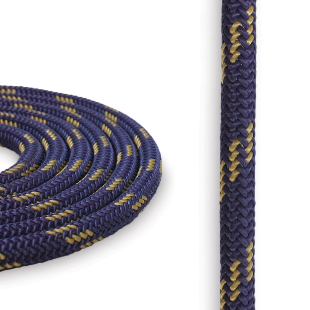 6mm Cord - Purple w/ Gold