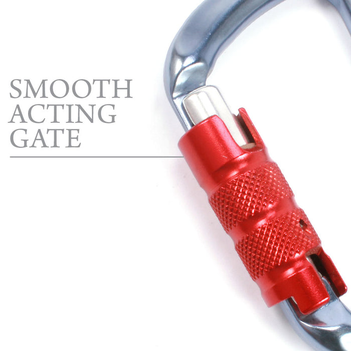 CT D-Carabiner | Blue with Red Gate