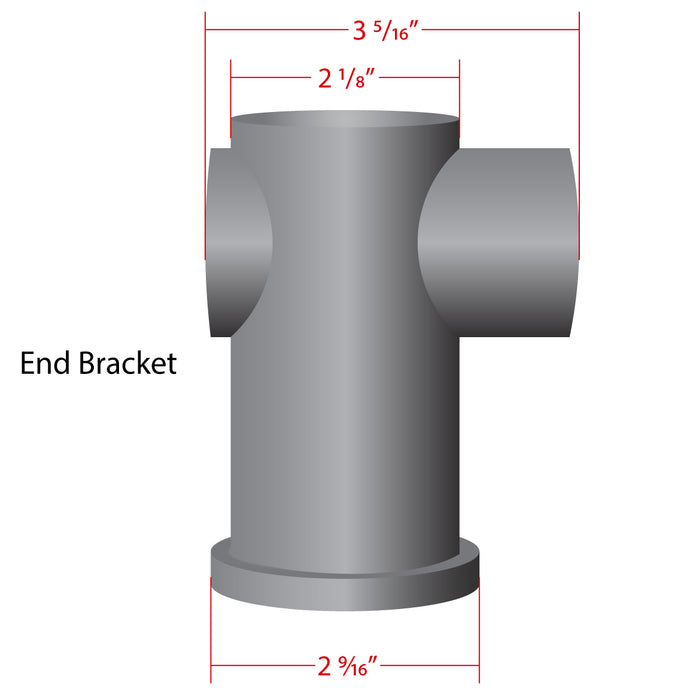 "1 1/2"" Modern Machined Rope Bracket"