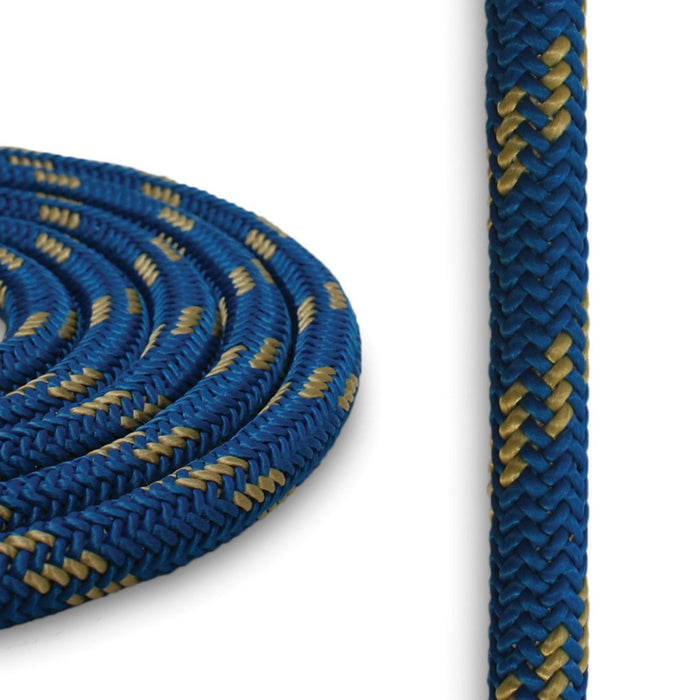 8mm Cord - Blue w/ Gold