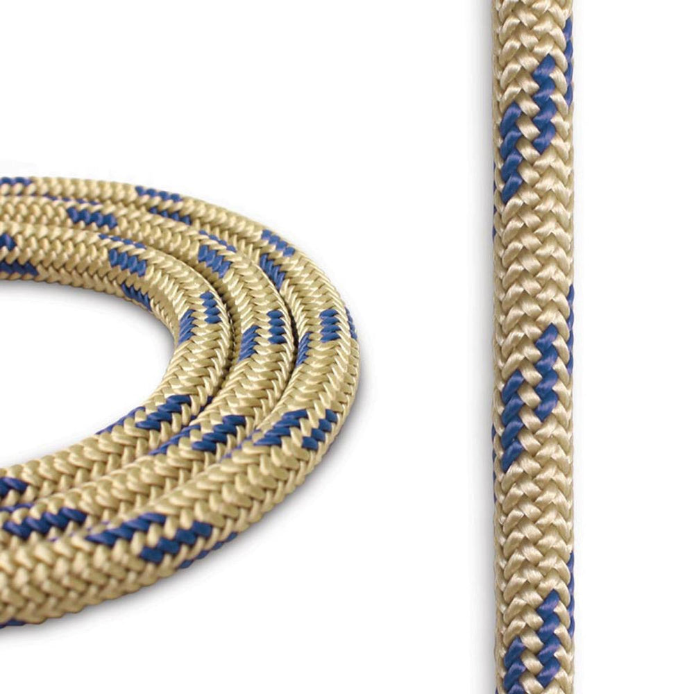 8mm Cord - Gold w/ Blue