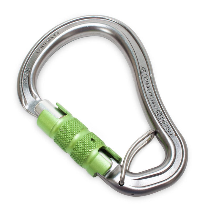 CT HMS Carabiner with Trap  | Gray with Green Gate