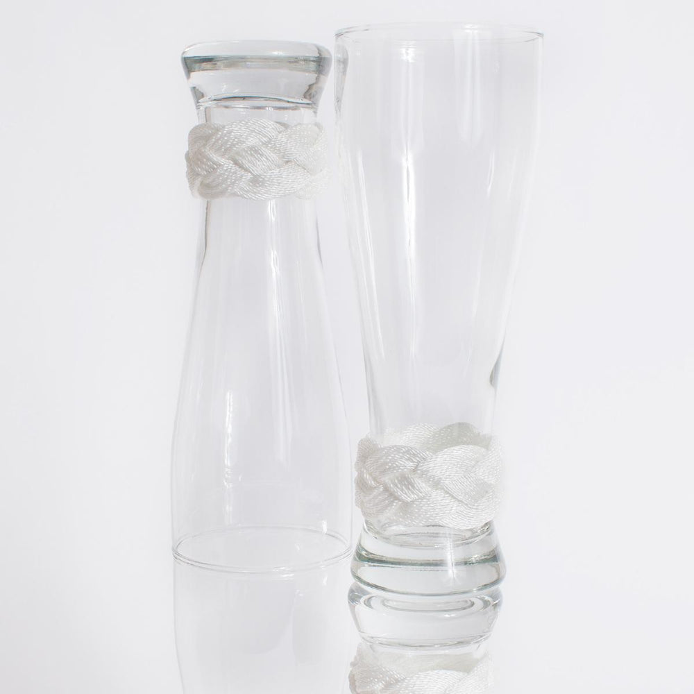 Pilsner Glass Wrapped with Turks Head