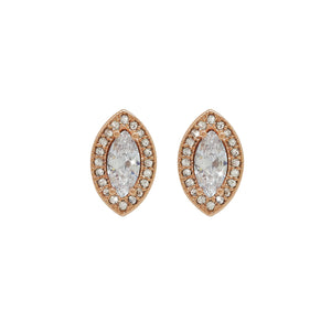 Rose Gold Marquise Cut Earrings