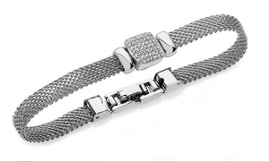 Bailey & Brooke Chain Mail Square Bracelet - Silver