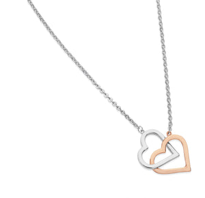 Interlinked Two Tone Heart Pendant