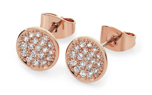 Bailey & Brooke 8 Shape Infinity Stud Earrings Rose Gold
