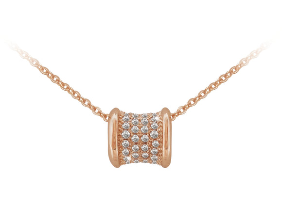 Rose Gold Barrel Pendant