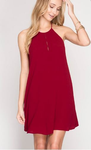 Sunny Days Dress Maroon