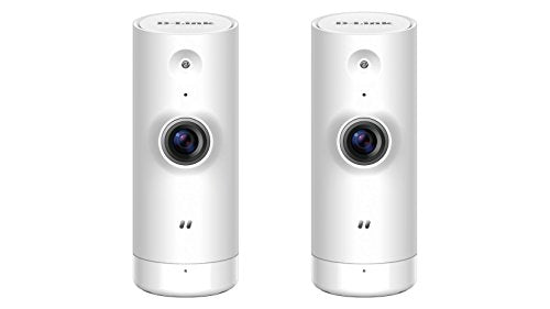 D-Link WiFi Security Camera HD, Mini Indoor, 2-Pack, Cloud Recording, Motion Detection and Night Vision, Works with ALEXA (DCS-8000LH/2PK-US)