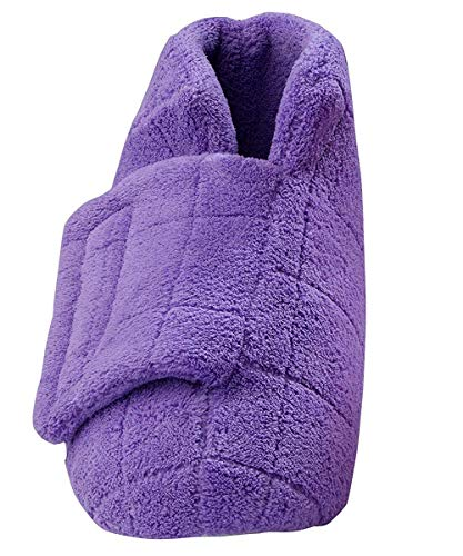 Silverts Disabled Elderly Needs Extra Wide Swollen Feet Slippers - Soft Cozy Comfortable and (LGE, Mauve)