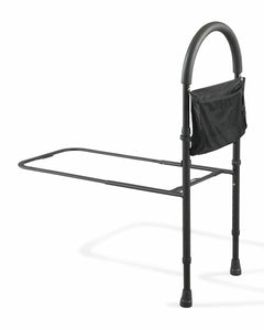 Medline Bed Assist bar With Storage Pocket, Height Adjustable Bed Rails for Elderly Adults, Assistance for Getting In & Out of Bed At Home