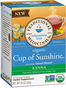 Traditional Medicinals, Tea Cup Of Sunshine Kanna Organic, 16 Count