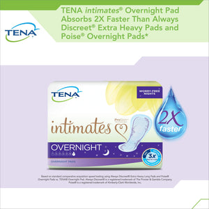 Tena Intimates Incontinence Pads/Bladder Control Pads for Women, Overnight Absorbency With Lie Down Protection, 84 Count