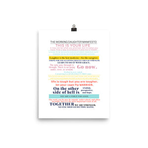 Working Daughter Manifesto Poster 8x10