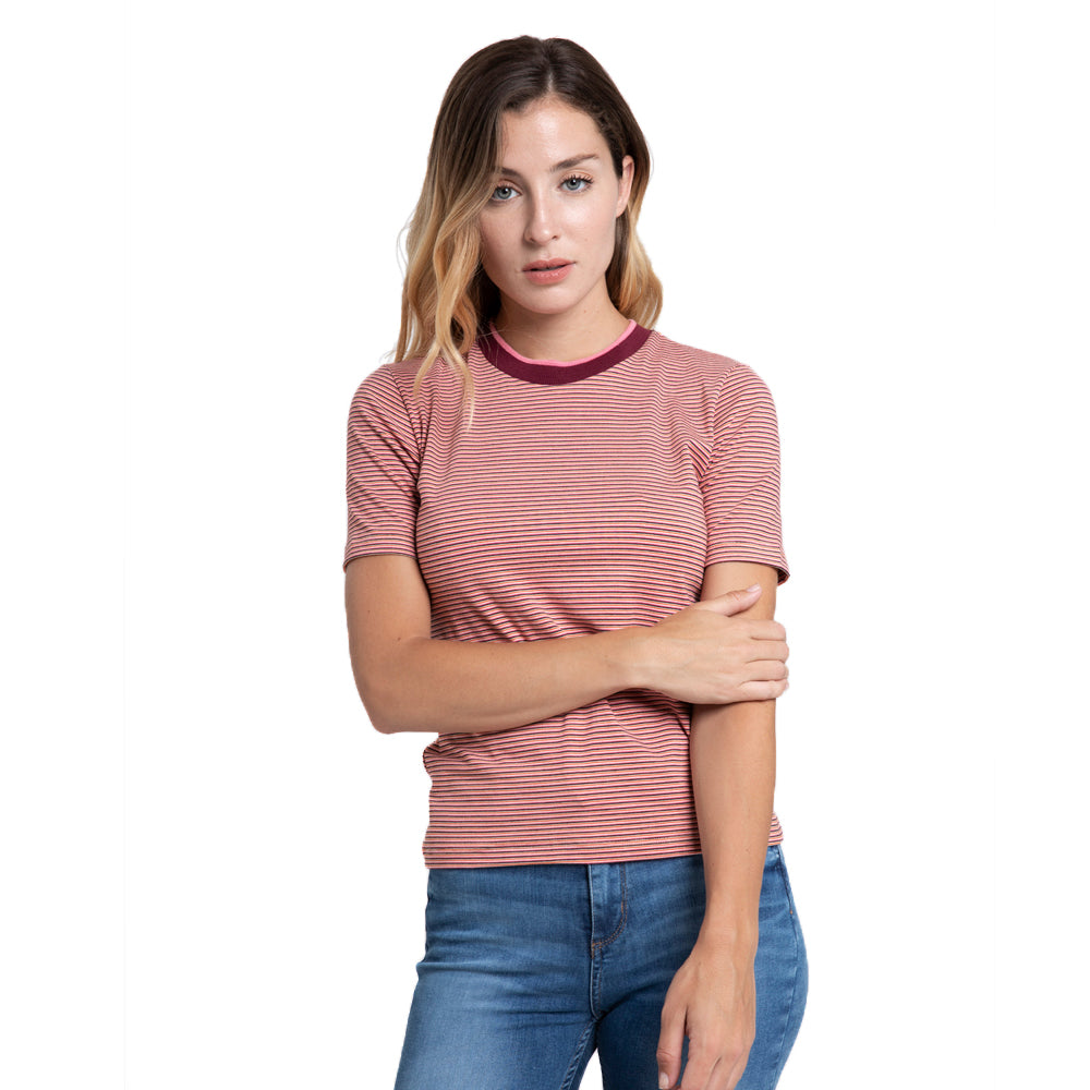 Remera Mujer Rusty Color Stripes