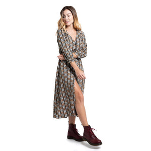Vestido Rusty Costello Long Sleeve Midi Dress