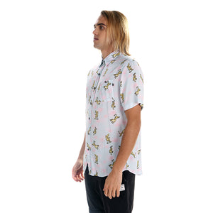 Camisa Hombre Rusty Tigerdile Short Sleeve Shirt