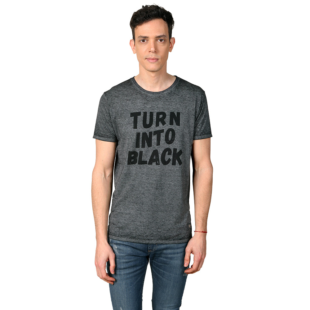 Remera Hombre Vulk Black Flag Negro Process