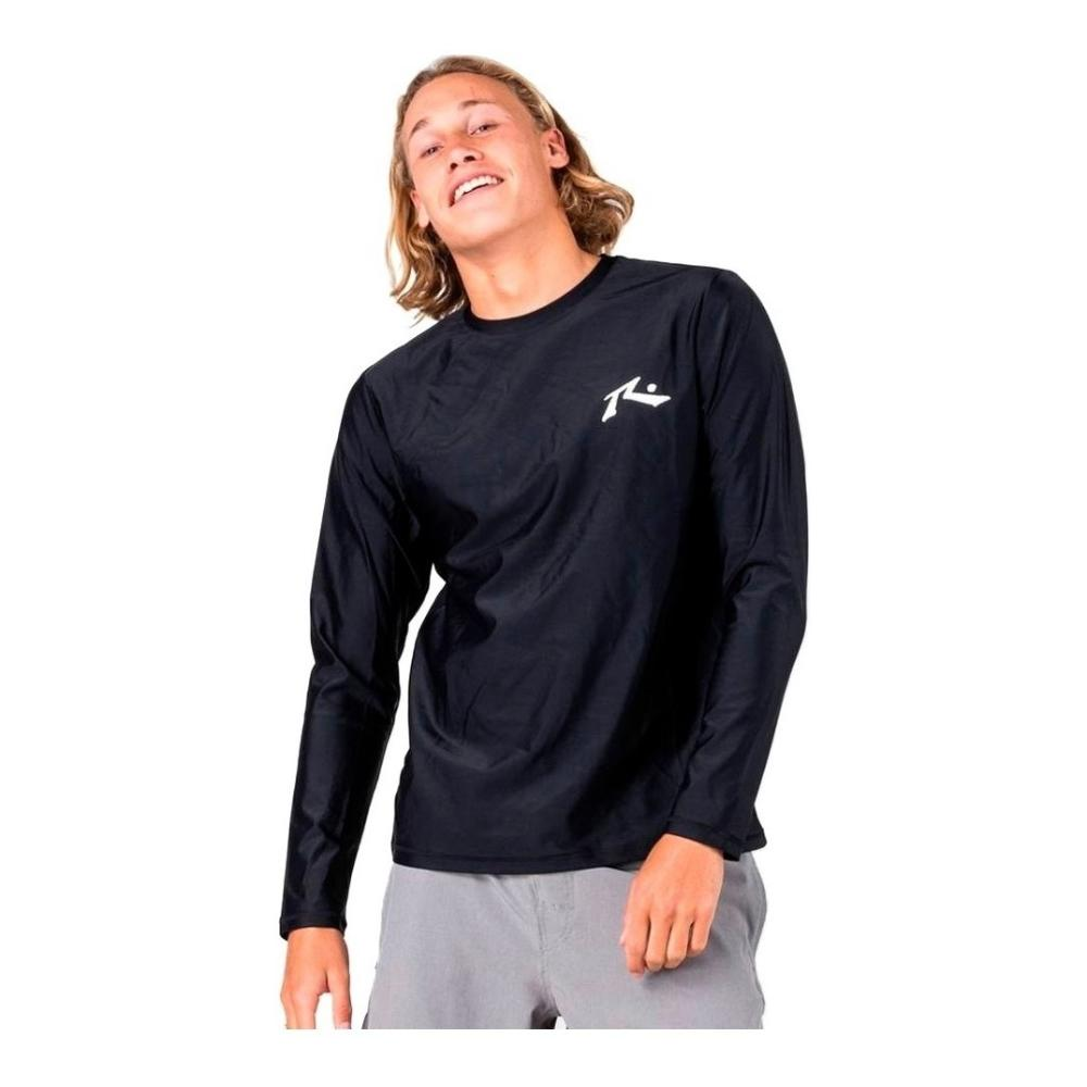 Remera Lycra Surf Hombre Rusty Competition Negra