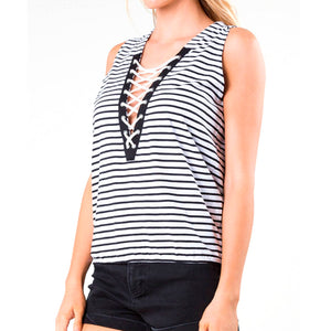 Musculosa Mujer Rusty Lacer Down Stripe