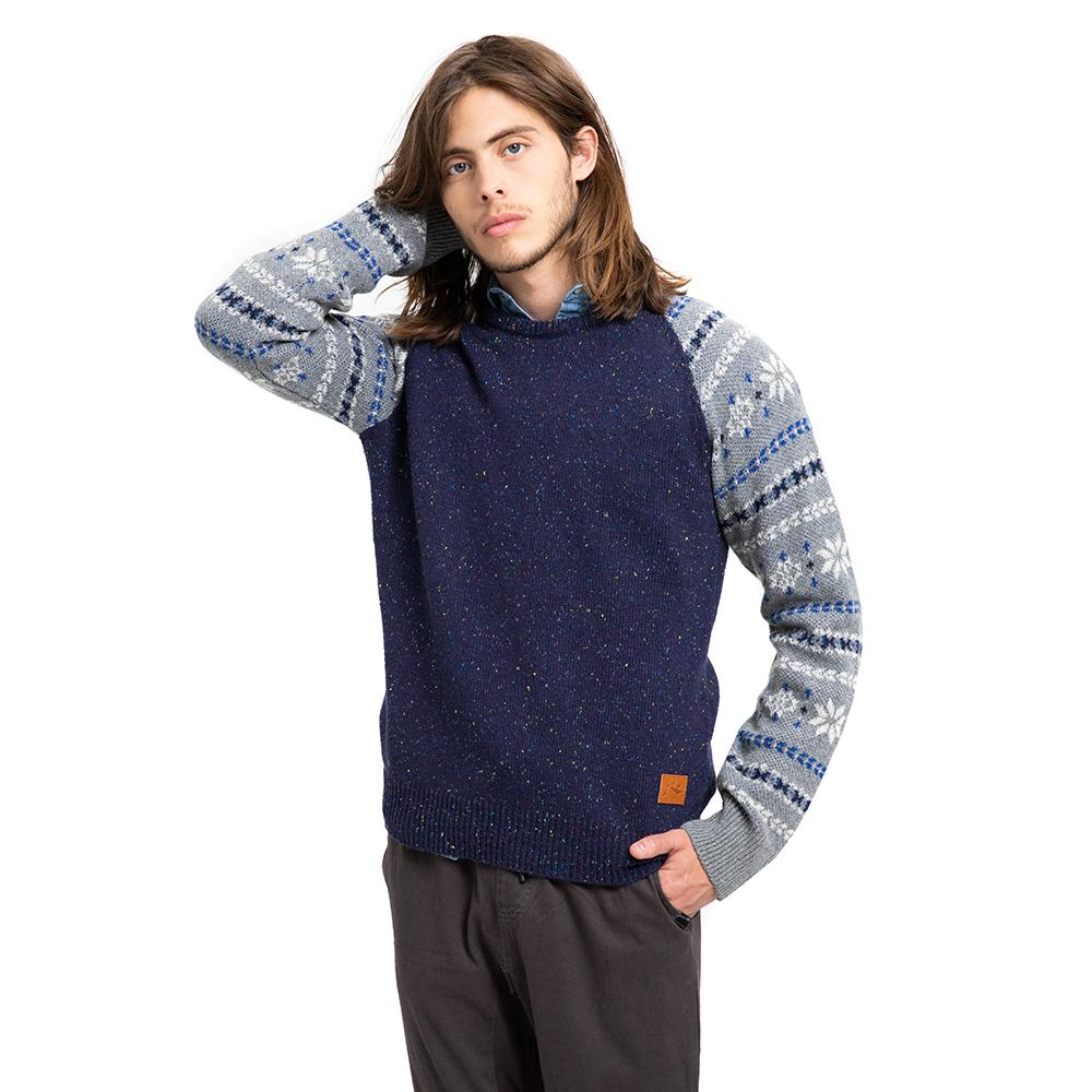 SWEATER WESTERN SW RUSTY AZUL
