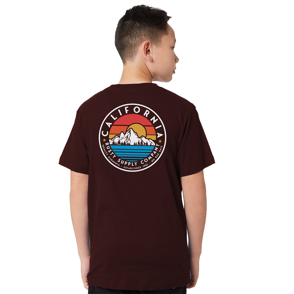 Remera Rusty Mountains And Rainbows Serie 2 Junior