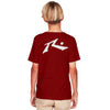 Remera Rusty Competition Junior Rojo