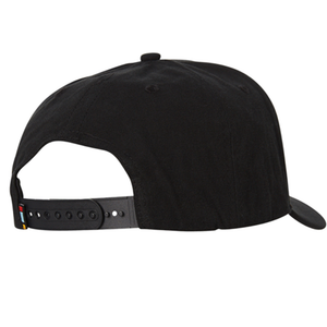 Gorra Rusty Trap Snapback Negra Junior