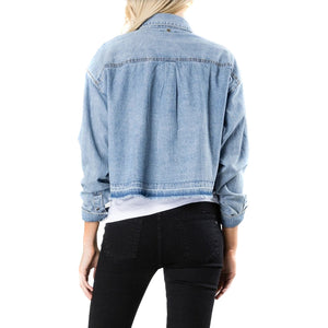 Camisa Mujer Rusty Lane Denim Boyfriend Shirt